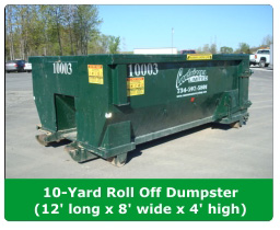 10 yard roll off dumpster